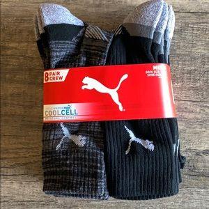 NWT Puma men's 8 pack Cool Cell tube socks